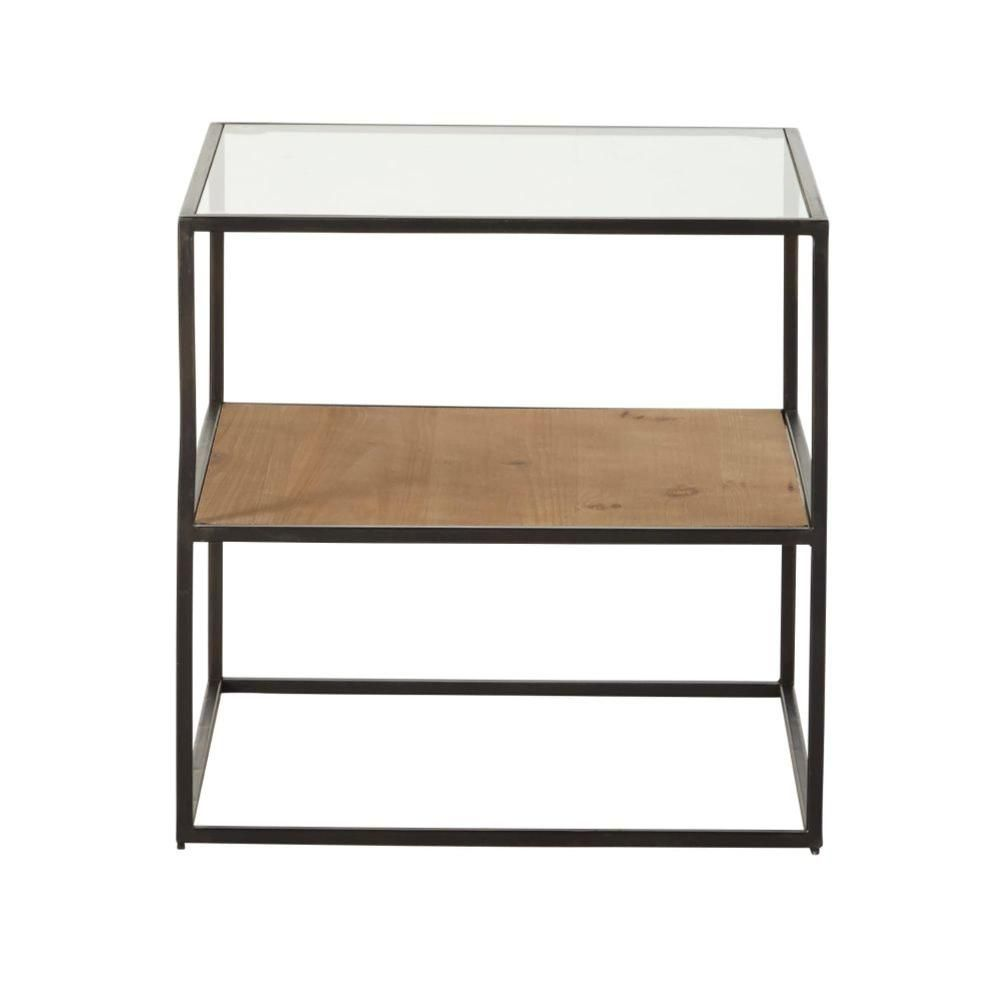 Mesa auxiliar Chester natural y negro